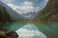 Altai mountains mountain lake russia siberia chuya ridge Stock Photos