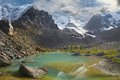 Altai mountains mountain lake russia siberia chuya ridge Royalty Free Stock Photo