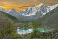Altai mountains mountain lake russia siberia chuya ridge Stock Images