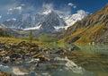 Altai mountains mountain lake russia siberia chuya ridge Royalty Free Stock Photos