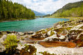 Altai river katun amazing mountain landscape with Royalty Free Stock Image