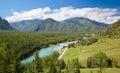 Altai river Katun Royalty Free Stock Photo