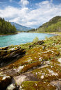 Altai river katun amazing mountain landscape with Stock Photos