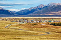 Altai village kurai landscape with and federal road m chuisky trakt Stock Image
