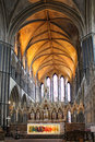 Altar and chancel of worcester cathedral england uk aug medieval Royalty Free Stock Photo