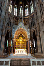 Altar and choir, Votive church, Vienna, Austria Royalty Free Stock Photo