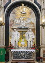 Altar in church side the of saint anne krakow poland Royalty Free Stock Photos