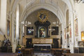 Altar in church the of st francis of assisi franciscan street Royalty Free Stock Photos