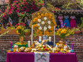 Altar for the deads at olvera street in los angeles usa july usa mecican traditional culture is still alive Royalty Free Stock Images