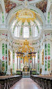 Altar of jesuit church in mannheim germany chour and high Royalty Free Stock Images