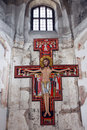 Altar with Jesus in orthodox church Royalty Free Stock Photo