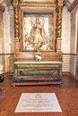 Altar with mary at carmel mission usa july san carlos borromeo on july in usa pope paul ii was worshiping the holy Royalty Free Stock Images