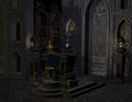 Altar of the Middle Ages Royalty Free Stock Photography