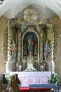 Altar of Our Lady of the Snows in the church of the Holy Trinity, Radoboj, Croatia Royalty Free Stock Photo
