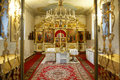 Altar in russian orthodox church Royalty Free Stock Photo