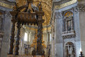 altar in san pietro Royalty Free Stock Photo