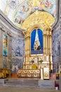 Altar of the Sanctuary of Sao Bento da Porta Aberta with a view to the statue Royalty Free Stock Photo
