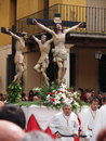 Altar servers accompany Christ Royalty Free Stock Photography