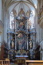 Altar of St. James Church in Kutna Hora, Czech Rep Royalty Free Stock Photo