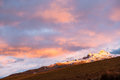 Altar volcano ecuador sunset on the mighty Royalty Free Stock Images