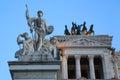 Altare della Patria or Monumento Nazionale a Vittorio Emanuele II - detail, Rome, Italy Royalty Free Stock Photo
