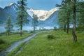 Altay landscape Royalty Free Stock Photo