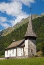 Alte kirche cantorama in jaun gruyere switzerland Stock Photo