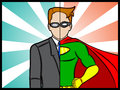 Alter ego super hero an illustration of a superhero secret identity Stock Photos