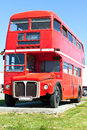 Alter roter London-Doppeldecker-Bus Stockbilder