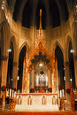 Alter at St. Patrick's Cathedral, NYC Stock Image