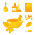 Alternatieve geneesmiddelen pictogrammen Stock Foto