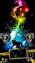 Alternative Disco Flyer for International Event Royalty Free Stock Photo