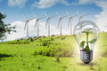 The alternative energy concept with windmills