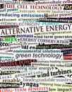 Alternative energy headlines Royalty Free Stock Image