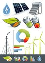 Alternative energy sources Royalty Free Stock Photos