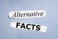 Alternative facts Royalty Free Stock Photo