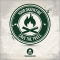 Alternative green fire stamp