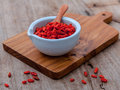 Alternative health care and oriental food ingredients dried Tibe Royalty Free Stock Photo