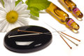 Alternative medicine with acupuncture needles Royalty Free Stock Photos