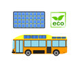 Alternative power concept eco car vector illustration.