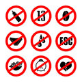 Alternative prohibition signs Royalty Free Stock Image