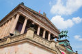 Altes museum berlin germany sunny blue sky Royalty Free Stock Image