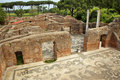 Altes römisches Bad-Mosaik Ostia Antica Rom Lizenzfreie Stockfotos