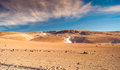Altiplano geysers of steam at bolivian Stock Photography