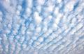 Altocumulus cloud clouds with blue sky Stock Photos