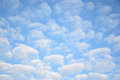 Altocumulus clouds in blue sky showing good weather and beautiful atmosphere Stock Image