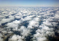 Altocumulus clouds looking down from above Stock Images