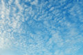 Altocumulus clouds natural skyscape background beauty Stock Photos