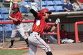 Altoona curve batter andrew lambo takes a big swing Stock Photos