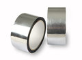 Aluminium adhesive tape metal foil adhesive tape photo of two for padding insulation the forming panels high initial adhesion Stock Photos